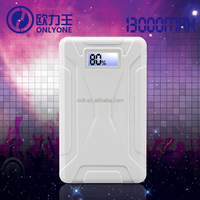 Dual USB 13000mAh Power Bank External Battery with Micro USB Cable for Mobile Phones, MP4, PSP