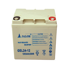 rechargeable long life deep cycle sealed lead acid 12v24ah ups gel battery