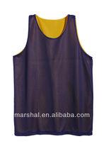 Wholesale double face mesh reversible basketball uniform