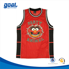 Cheap Customization Sublimation Printing No Sleeve Men's Basketball Jersey