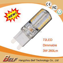 2015 new products mini dimmable g9 led bulb&silicone g9 led lamp 3w