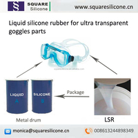 Transparent liquid silicone rubber for earplugs,nose pads,goggles.gaskets