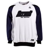 Peak White Casual Plain Sweatshirt for Man Shane Battier Series Round Neck Sweater
