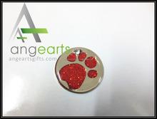 dog footmark silver lapel pins