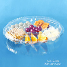 plastic food compartment disposable tray with lid