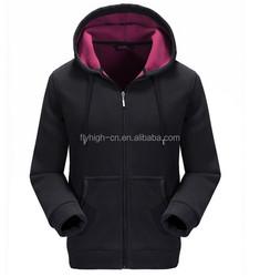cheap plain black skim fit thick fleece hoodies zip up hoodies