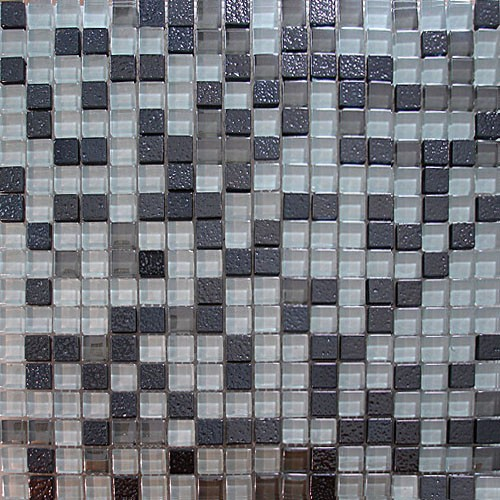 tile metal mix glass mosaic tile backsplash decorative metal mix glass