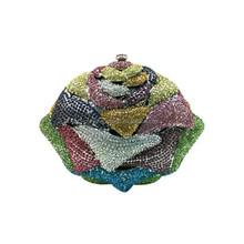 Fashion beaded evening clutch bag shell shaped swarovski crystal clutch bag DB1703