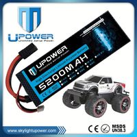 Upower hardcase 7.2v 5200mah long lifespan 4s1p rc helicopter battery lipo car battery for off-road rc car
