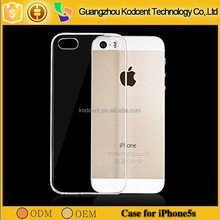 Guangzhou supplier ultrathin tpu mobile phone back cover case for ip5s