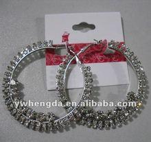 Designer Basket ball Wives Crystal Hoop Earrings Wholesale