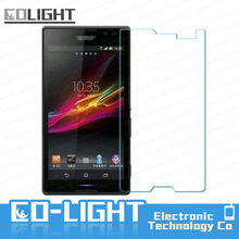 Hot-selling New product HD 9h explosion-proof tempered glass screen protector for sony xperia z