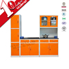 Self assembly chinese kitchen cabinets with solid wood countertops