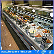 supermarket sushi equipment cooked food refigerator, deli food diplay showcase single-temp type chest type is...