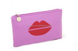 Patent Cosmetic Bag Popular In Europe Patent Leather Cosmetic Bags Mini PU Kiss Make-up Bag