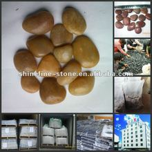 polished yellow pebbles stone on sale