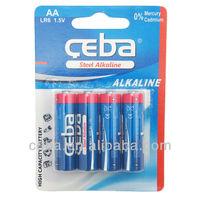 alkaline aa batteries lr6 size aa am3 1.5v battery Zinc Manganese Dioxide alkalines