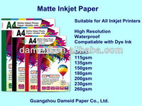 Top sale high quality cheap inkjet glossy photo paper (A4/210*297mm/5760dpi)