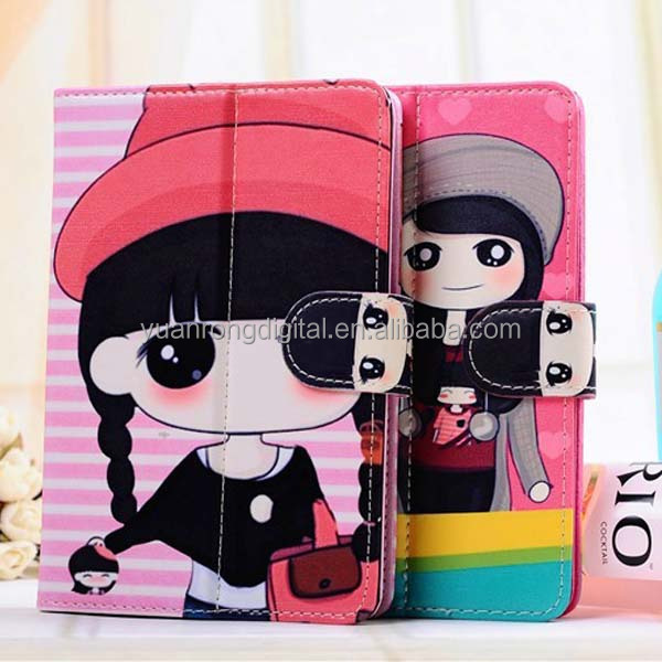 Cartoon Case for Tablet,Hot sale Universal Leather Cartoon Tablet Case For iPad, Tablet Case For ipad mini Case Cartoon Pattern