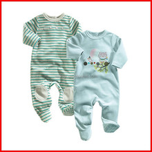 100% cotton knitted interlock baby CREEPER sell to UK