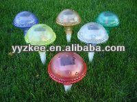 solar powered garden outdoor mushroom lights for garden