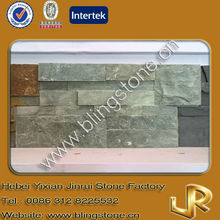 Ocean green slate stacked decorative wall tile