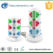 Universal extension vertical power socket outlet international electrical adapter for travel