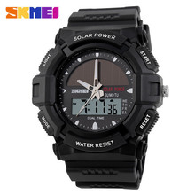 best selling solar power dual time big dial inexpensive men diver watch,accept small stock order