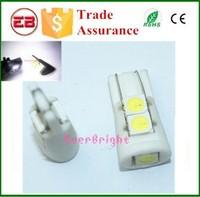 White led t10 light bulbs T10 194 168 Car Led Side Lights T10 5050 5SMD 5 Led Lights Ceramic Led Width Lamps 12v led car lights