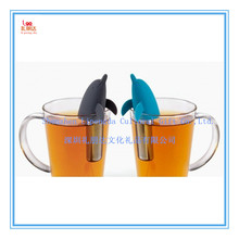 2015 Wholesale cute animal shark dolphin shaped Silicone tea Infuser, cute animal shark dolphin shaped Silicone tea strainer