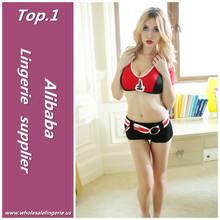 cheap Spandex / Ployester cheerleader girl carnival costume