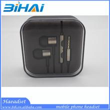 High quality metal earphone,mobile phone earphone,Headphones with mic