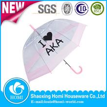 Encantadora recta paraguas transparente paraguas recorrido