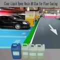líquido transparente de resina epoxi y endurecedor para piso de parque