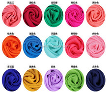 NEW Beautiful Fashionable Neckerchief Super Soft High Quality Solid Color Silk Chiffon Shawl Scarves