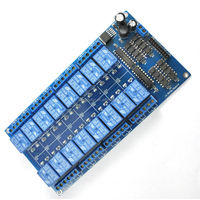 12V 16 Channel Relay Module Interface Board For Arduino PIC ARM DSP PLC With Optocoupler Protection LM2576 Power