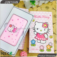 2015 New Design Hello Kitty Portable Mirror Power Bank 8800mAh