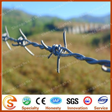 Cheap barbed wire widely used for mountain fence & plant fence