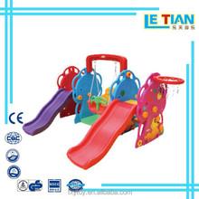 Indoor kids slide and swing ,Amusement equipment plastic slide,Guangzhou plasitc slide for sale