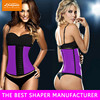 slimming girdle of waist training corsets with 100% natrual rubber material and memory alloy steel boned