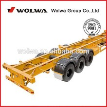 skeleton semi trailer container chassis for sale made in china