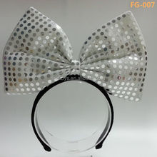 Fashion Light Up Sequin Bow Ties Headbands for Wholesale Party Gifts