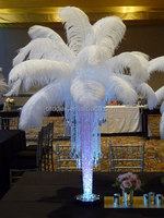 Wedding party decoration white artificial ostrich feather