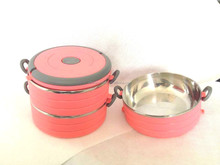 two layer lunch box, heated lunch box, mircrowave safe lunch box
