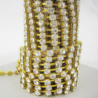 Wholesale rhinestone cup chain, strass cup chain,strass