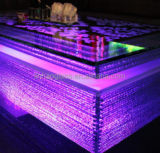 Modern design hotel club glow led bar counter view led for Design hotel glow