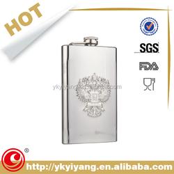 CE EU promotion engraved logo Spray paint customized hip flask