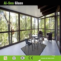 Tempered Glass Used Building Office Partition Glass Screen Residence Interior Balcony Hollow Glass Screen
