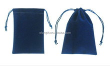 drawstring velvet bags with logo printing from China
