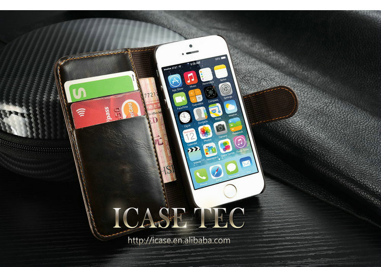 Popular stand wallet leather case for iphone5 , for iphone 5 leather case, for iphone 5s case